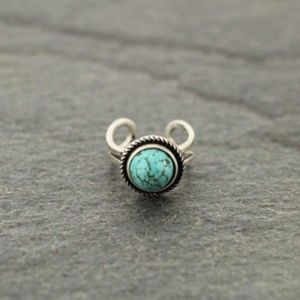 Natural Stone Turquoise Ring
